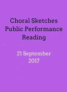 Choral Sketches – Performance Readings